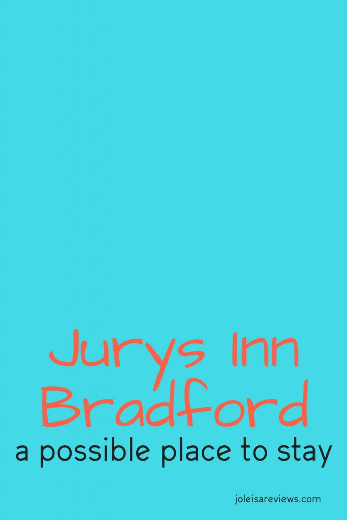 We had occasion to stay at the Jurys Inn Bradford recently. It is near enough to the town centre so you can walk there. Well, after our visit, we wrote about our experience so that you can make an informed choice if you ever have to visit Bradford in the UK and want somewhere to stay overnight.