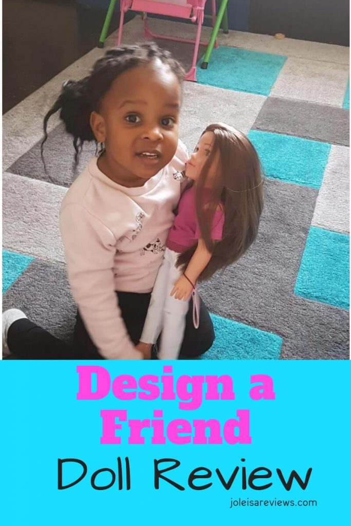 This gift of a design a friend doll is a welcome surprise for a birthday or for Christmas. The dolls have lifelike features & clothes to play dress up with.